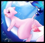 anus blue_background blue_body blush butt cum cum_in_pussy cum_inside darkmirage dragonair eyes_closed female legendary_pokémon looking_at_viewer male mew nintendo penetration penis pink_body pink_eyes plain_background pokémon pussy red_penis straight tail_stimulation tapering_penis underwater vaginal vaginal_penetration video_games water   Rating: Explicit  Score: 14  User: Kitsu~  Date: December 17, 2008