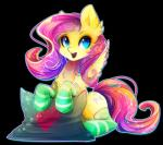 <3 alpha_channel blue_eyes clothing cutie_mark equine female fluttershy_(mlp) friendship_is_magic hair koveliana legwear mammal my_little_pony pegasus pillow pink_hair sitting socks solo sparkles wings  Rating: Safe Score: 4 User: 2DUK Date: November 29, 2015