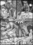 bestiality black_and_white canine comic cum cum_in_mouth cum_inflation cum_inside fear female feral force forced forest halfling hobbit human inflation interspecies loki_(artist) male mammal monochrome oral pain penis rape tree violence vomit wood   Rating: Explicit  Score: 5  User: garfieldcat  Date: February 01, 2011