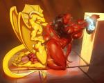 2015 anthro big_breasts breasts chain collar dragon duo female horn javkiller leash male male/female nipples nude penetration scalie sex vaginal vaginal_penetration wings   Rating: Explicit  Score: 12  User: Numeroth  Date: April 02, 2015