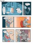 alabaster_tablespoon alvcard anthro bulge canine clothing comic dog duo lagomorph male mammal muscles rabbit underwear   Rating: Questionable  Score: 2  User: Pokelova  Date: March 28, 2015