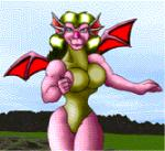 2003 animated anthro armor blood claws death digital_media_(artwork) dragon duo feet female green_hair green_scales hair human low_res male mammal markie membranous_wings outside pink_scales running scales scalie size_difference toe_claws wings  Rating: Questionable Score: -5 User: GameManiac Date: March 30, 2015
