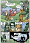 7:10 anthro biped blue_eyes bulge canid canine cheek_tuft chest_tuft clothed clothing comic day dialogue digital_media_(artwork) digitigrade dragon english_text eyes_covered facial_tuft farin forest fox fur geminisaint gesture grass green_body group half_naked hand_holding hand_on_shoulder head_tuft hi_res holding_object horn letter loincloth male male/male mammal membrane_(anatomy) membranous_wings multicolored_body muscular muscular_male navel nipples pawpads paws pecs plant porah red_body red_fur scalie sekk'ral shrub silhouette slightly_chubby speech_bubble standing surin tan_body tan_fur teeth text topless tree tuft two_tone_body waving wing_claws wings