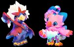 alpha_channel animal_crossing anthro avian bag beak biyomon black_claws blue_body blue_eyes blue_feathers braviary claws clothing digimon digimon_(species) duo feathers female flower hi_res holding_object male nintendo pink_body pink_feathers plant pokémon pokémon_(species) red_beak red_body red_claws red_feathers ring simple_background toe_claws transparent_background tuft video_games white_body white_feathers yellow_beak