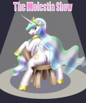 anus butt english_text equine female feral friendship_is_magic horn mammal my_little_pony orca_(artist) princess_celestia_(mlp) pussy solo text winged_unicorn wings  Rating: Explicit Score: 14 User: Robinebra Date: September 20, 2015