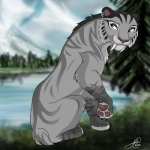 2012 blue_eyes cat ear_piercing feline female fur ice_age jujubajulia paws piercing sabertooth shira_(ice_age) smilodon tiger white_fur   Rating: Safe  Score: 10  User: slyroon  Date: July 04, 2013