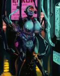 ahegao aka6 areola balls big_balls big_breasts big_penis blue_skin breasts cleavage clothed clothing cybernetics cyborg dickgirl erection eyewear facial_piercing glasses huge_breasts immobile insertion intersex lip_piercing machine mechanical_fixation nipple_penetration nipples penetration penis penis_bulge piercing restrained sweat transformation tube urethral urethral_insertion urethral_penetration vem vem's_processing_peril visor  Rating: Explicit Score: 5 User: my_bad_english Date: August 29, 2015