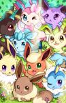 ambiguous_gender black_fur blue_fur brown_eyes brown_fur canine cute eevee eeveelution espeon feral flareon fur geegeet glaceon grass green_eyes group jolteon leafeon mammal nintendo one_eye_closed orange_fur oustide pink_fur pokémon purple_eyes purple_fur red_eyes sky sylveon tan_fur teeth tuft umbreon vaporeon video_games wink yellow_fur   Rating: Safe  Score: 5  User: DeltaFlame  Date: February 15, 2015