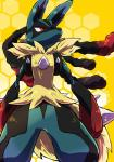 blue_fur canine fur lucario mammal mega_evolution mega_lucario nintendo pokémon red_eyes spikes video_games  Rating: Safe Score: 2 User: Rad_Dudesman Date: November 25, 2015