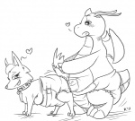 2013 <3 anal animal_crossing black_and_white blush breasts canine collar diaper dragon dragonite duo female feral male mammal monochrome nintendo pokémon pregnant roxylittlepaw signature teats video_games whitney_(animal_crossing) wolf   Rating: Explicit  Score: 1  User: letmerok  Date: July 29, 2013