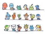 amphibian avian bird black_eyes bulbasaur canine charmander chespin chicken chikorita chimchar crocodile cute cyndaquil english_text fennekin fire flora_fauna fox froakie frog gecko group huiro lizard looking_at_viewer male mammal monkey mudkip mustelid nintendo open_mouth oshawott otter penguin pig piplup plant pokémon porcine primate reptile rodent scalie simple_background smile snivy snot squirtle teeth tepig text tired torchic totodile treecko turtle turtwig video_games white_background yawn yellow_eyes  Rating: Safe Score: 3 User: slyroon Date: November 08, 2014