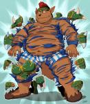 armor blush canine chubby clothed clothing half-dressed iwano male mammal obese overweight underwear wolf   Rating: Questionable  Score: 2  User: BearFever  Date: March 20, 2015