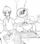 black_and_white duo eeveelution fire flareon forest glo-in-the-dark human male mammal monochrome nintendo outside pokémon tree video_games   Rating: Safe  Score: 11  User: Trashboat  Date: April 29, 2014