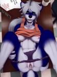 2016 after_sex anthro anus blue_fur breasts clitoral_hood clitoris clothed clothing clothing_lift cum cum_in_pussy cum_inside desk female fur gaping gaping_pussy green_eyes hair hi_res legs_up looking_at_viewer lying mammal nipple_piercing nipples on_back panties panties_down piercing pussy seff shirt shirt_lift skunk solo spread_legs spreading taki underwear unprofessional_behavior urethra white_hair  Rating: Explicit Score: 44 User: TonyLemur Date: April 19, 2016