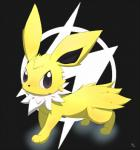 eeveelution feral jolteon looking_at_viewer nintendo pokémon shirokuro0 simple_background solo video_games  Rating: Safe Score: 1 User: Raria Date: July 06, 2015