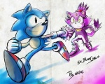 2012 anthro blaze_the_cat blush cat couple duo feline female hand_holding happy hedgehog male mammal sonic_(series) sonic_(sonic) unknown_artist  Rating: Safe Score: 3 User: Rad_Dudesman Date: September 26, 2014