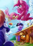 2016 :o absurd_res applejack_(mlp) blonde_hair blue_eyes cloud cup cute cutie_mark earth_pony equine eyelashes feathered_wings feathers female fluttershy_(mlp) flying food friendship_is_magic grass green_eyes group hair hat hi_res horn horse looking_back looking_up luciferamon makeup mammal mascara mud multicolored_hair my_little_pony open_mouth open_smile outside pegasus pink_hair pinkie_pie_(mlp) pony purple_eyes purple_hair rainbow_dash_(mlp) rainbow_hair rarity_(mlp) sandwich_(food) sitting sky smile suspended_in_midair table teeth tongue twilight_sparkle_(mlp) under_table unicorn water wide_eyed winged_unicorn wings