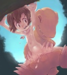 2014 agumon anthro balls bandai brown_eyes brown_hair claws conoghi cum cum_in_pussy cum_inside digimon digiphilia duo erection eyes_closed female flat_chested from_behind hair hikari_kamiya human human_on_anthro interspecies loli male male/female mammal navel nipples nude open_mouth orgasm outside penetration penis scarf sex sky uncensored vaginal vaginal_penetration whistle yellow_body young   Rating: Explicit  Score: 24  User: Languedoc  Date: October 05, 2014