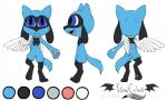 2014 anthro back black_fur blue_eyes blue_fur canine collar cub cute digitigrade fan_character fangs fur hindpaw looking_at_viewer male mammal nintendo nude open_mouth pawpads paws plain_background pokémon rear_view riolu smile solo standing tongue vibrantechoes video_games white_background wings young   Rating: Safe  Score: 1  User: Blackphantom770  Date: June 06, 2014