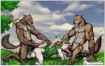 2006 all_fours balls canine elf erection fellatio furronika gay greyscale group group_sex interspecies male mammal monochrome muscles oral oral_sex penis sex spitroast sword threesome weapon wolf wolfbeast   Rating: Explicit  Score: 3  User: furmann  Date: March 29, 2014