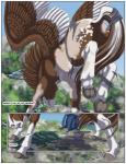 2014 backpack clothing equine feral hike hooves horse male mammal mount_helicon mountain outside pegasus sabretoothed_ermine spring torn_clothing transformation wings   Rating: Safe  Score: 3  User: PheagleAdler  Date: September 21, 2014