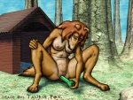 anthro border_collie breasts canine collie dildo dog doghouse female mammal masturbation nipples pussy sex_toy solo taurin_fox tree wood  Rating: Explicit Score: 3 User: Ormolus Date: August 18, 2011