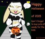 anthro black_fur bone candy clothing comic_sans cosplay female food fur halloween holidays holloween jack_o'_lantern lagomorph lil_scooter56 loli looking_at_viewer mammal mummy open_mouth public puff_hare pumpkin purple_eyes pussy rabbit smile text undead young  Rating: Questionable Score: 7 User: Lil_Scooter56 Date: October 15, 2015