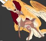 anthro anthro_on_feral backlash91 bestiality cervine deer dragon duo female feral half-closed_eyes horn internal male male/female mammal open_mouth penis sex tongue tongue_out wings  Rating: Explicit Score: 11 User: snowblind Date: November 24, 2015