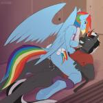 anthro anthrofied anus avoid_posting balls bottomless breasts clothed clothing collar conditional_dnp cowgirl_position cum cum_in_pussy cum_inside cutie_mark duo equine female friendship_is_magic half-dressed horn leash male male/female mammal my_little_pony nipples on_top pegasus penetration penis pussy rainbow_dash_(mlp) scappo sex shirt shirt_lift straddling unicorn vaginal vaginal_penetration wings   Rating: Explicit  Score: 56  User: Syphon  Date: September 22, 2014