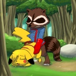 ambiguous_gender bottomless crossover cum eyes_closed from_behind male marvel mouse nintendo pikachu pokémon raccoon rocket_raccoon rodent sex video_games   Rating: Explicit  Score: 9  User: Woozle  Date: July 11, 2012