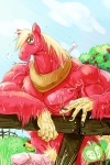 anthro anthrofied big_macintosh_(mlp) draft_horse equine erection fence freckles friendship_is_magic horse male mammal manly muscles my_little_pony nude penis pony smile solo stagor55 standing strong_hands yoke   Rating: Explicit  Score: 2  User: Sods  Date: May 10, 2011