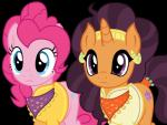 absurd_res alpha_channel blue_eyes clothed clothing cutie_mark duo ear_piercing earth_pony equine eyelashes female feral friendship_is_magic fur gold_(metal) gold_earring gold_jewelry hair hi_res horn horse jewelry long_hair mammal my_little_pony orange_body orange_horn piercing pink_body pink_hair pinkie_pie_(mlp) pony purple_hair reaction_image saffron_masala_(mlp) sketchmcreations_(artist) unicornRating: SafeScore: 7User: slyroonDate: June 04, 2017