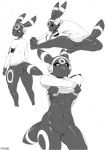 anthro anthrofied breasts eeveelution female headphones monochrome nintendo plain_background pokémon pokémorph sunibee umbreon under_boob video_games   Rating: Questionable  Score: 39  User: Bluey  Date: March 19, 2013