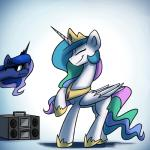 2015 animated anticularpony cute dancing duo equine female feral friendship_is_magic horn mammal my_little_pony princess_celestia_(mlp) princess_luna_(mlp) smile unicorn winged_unicorn wings  Rating: Safe Score: 19 User: Robinebra Date: August 02, 2015
