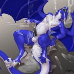 2017 5_toes 6_fingers anal anthro anus balls belly biped blue_skin butt claws countershade_tail countershade_torso countershading cum cum_everywhere cum_from_ass cum_in_ass cum_inflation cum_inside cum_leaking dewclaw digital_drawing_(artwork) digital_media_(artwork) digitigrade dragon erection excessive_cum eyes_closed firon firondraak glans hi_res humanoid_penis inflation leaking licking lying male membranous_wings messy nude on_back open_mouth open_smile oral penis precum scalie sharp_teeth smile soft_shading solo sonsasu spread_wings teeth thick_tail toe_claws toes tongue tongue_out watermark western_dragon white_countershading white_skin wing_claws wings