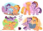 2015 applejack_(mlp) blonde_hair book bunsen_burner cowboy_hat cutie_mark duo earth_pony equine eyewear feathered_wings feathers female flying freckles friendship_is_magic fur goggles green_eyes hair hat horn horse house jowybean mammal multicolored_hair my_little_pony outside pony ponyville purple_eyes purple_fur purple_hair reading running sweat test_tube twilight_sparkle_(mlp) two_tone_hair winged_unicorn wings  Rating: Safe Score: 18 User: 2DUK Date: February 05, 2015
