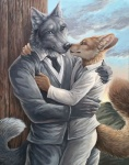 2015 anthro canine claws clothed clothing couple duo fox fur male male/male mammal marcus reis ring rukis smile story story_in_description wolf  Rating: Safe Score: 14 User: *Sellon* Date: July 09, 2015
