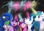 2016 absurd_res cute dragon equine female feral fireworks friendship_is_magic green_eyes group happy hi_res horn male mammal my_little_pony princess_cadance_(mlp) princess_celestia_(mlp) princess_luna_(mlp) purple_scales scales shining_armor_(mlp) silfoe spike_(mlp) twilight_sparkle_(mlp) unicorn white_sclera winged_unicorn wings  Rating: Safe Score: 18 User: Robinebra Date: January 01, 2016
