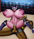<3 anthro balls big_breasts breasts cum cum_in_pussy cum_inside duo erection evil-rick female hippopotamus huge_breasts hyper hyper_breasts male male/female mammal mask nude on_top penetration penis pussy reverse_cowgirl_position sex vaginal vaginal_penetration walrus  Rating: Explicit Score: 3 User: Pasiphaë Date: July 09, 2015