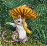 ambiguous_gender anthro armpits cute dancing happy mammal mouse mushroom outside raining rodent sabretoothed_ermine singing soloRating: SafeScore: 10User: ippiki_ookamiDate: October 20, 2011