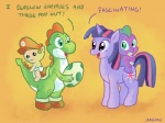 2011 anthro baby black_eyes child crossover cub cutie_mark dialogue diaper docwario dragon egg english_text equine eye_contact female feral friendship_is_magic fur green_body group hair hat horn human male mammal mario mario_bros my_little_pony nintendo open_mouth orange_background pink_hair plain_background purple_body purple_eyes purple_fur purple_hair scalie spike_(mlp) text twilight_sparkle_(mlp) two_tone_hair unicorn video_games yellow_eyes yoshi young   Rating: Safe  Score: 15  User: Granberia  Date: June 07, 2013