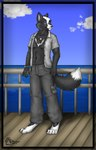 anthro canine clothed clothing eyewear fox glasses male mammal max open_shirt pandaesque shirt solo  Rating: Safe Score: 1 User: LadyFuzztail Date: April 25, 2007""