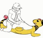 2015 ampharos animated beady_eyes bestiality black_eyes chubby clothed clothing dacad duo faceless_male female feral hat human human_on_feral interspecies lying male male/female mammal nintendo on_back open_mouth pants pants_down penetration pokémon poképhilia pussy sex simple_background smile vaginal video_games white_background  Rating: Explicit Score: 46 User: Numeroth Date: September 23, 2015