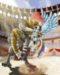 2015 armor canine colosseum diamond_dog_(mlp) dog equine evil-dec0y fangs female fight friendship_is_magic galea gladiator helmet mace male mammal melee_weapon my_little_pony pegasus punch rainbow_dash_(mlp) roman_empire saliva sharp_teeth teeth weapon wings  Rating: Safe Score: 9 User: 2DUK Date: October 02, 2015