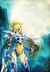 armor bikini_armor blonde_hair blood_elf elf female green_eyes hair midriff paladin pointy_ears shield sword thigh_highs video_games warcraft weapon world_of_warcraft yasaingma   Rating: Safe  Score: 5  User: Kitsu~  Date: December 09, 2009