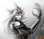 2015 abstract_background android angry anthro armor avalenna claws clothing female glowing glowing_eyes hair lagomorph long_ears looking_at_viewer machine mammal orange_eyes rabbit ratte robot simple_background solo white_hair  Rating: Safe Score: 8 User: Knotty_Curls Date: July 30, 2015