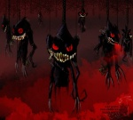 ambiguous_gender banette blood claws creepy feral ghost grin group looking_at_viewer mist nintendo open_mouth pokemonfromhell pokémon red_eyes sharp_teeth smile spirit teeth video_games   Rating: Questionable  Score: 3  User: ThatOnePorcupine  Date: December 02, 2014