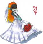 bouquet clothing dress female hair humanoid imp maniacpaint midna nintendo not_furry orange_hair red_eyes solo the_legend_of_zelda twili twilight_princess video_games wedding_dress yellow_sclera   Rating: Safe  Score: 18  User: Juni221  Date: April 19, 2015