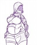 alien female mass_effect monochrome overweight plasma-snake quarian solo tali'zorah thick_thighs video_games  Rating: Safe Score: 3 User: Nuji Date: September 25, 2015