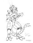2004 armor dragon gun incendax male plain_background power_armor ranged_weapon scalie solo weapon white_background  Rating: Safe Score: 2 User: Riversyde Date: May 19, 2011""